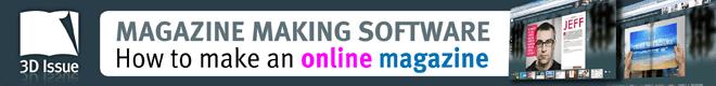 3D Issue online magazine software